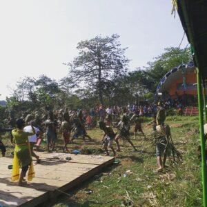 Festival Tawur Bubur di Dk Tretes Jinggotan Kembang Meriah