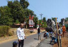 Pelaksana tugas (Plt) Bupati Jepara Dian Kristiandi saat meninjau lokasi pelebaran jalan ke arah beberapa objek wisata Jepara , Selasa (6/8/2019).